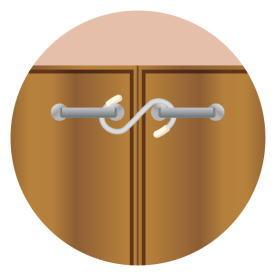 食器棚などの扉の開閉防止