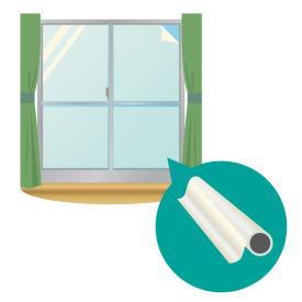 窓ガラスへの飛散防止対策