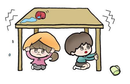 リビングにいる時に地震が発生したらどうする?