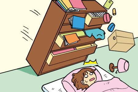 寝室での地震対策は?寝室で地震が起こったら?