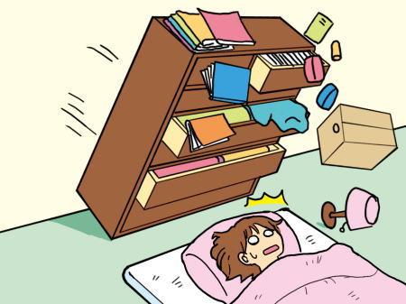 家具などの安全な配置と固定