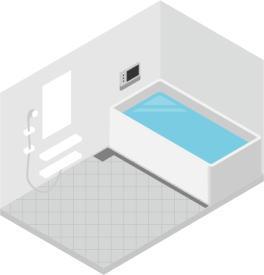 地震があっても風呂場は安全!?