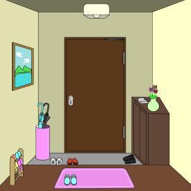 地震の時玄関は安全!?