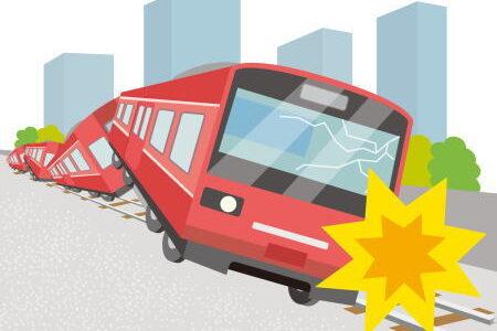 電車の中や駅で地震が起こったらどうする?
