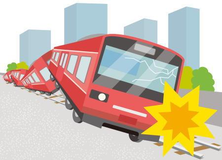 電車の中で地震が起こったらどうする?