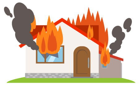 自宅で火災が発生した時の対処法は?