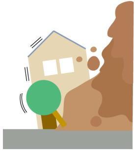 地震により山では地滑りや土砂崩れのおそれ!その対策は?